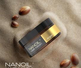 Flüssiges Gold im Glas. Nanoil Haarmaske mit Arganöl.